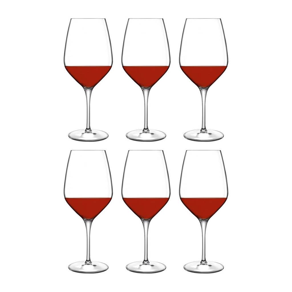 Luigi Bormioli Atelier rode wijnglas (Ø9,1 cm) (set van 6), Transparant
