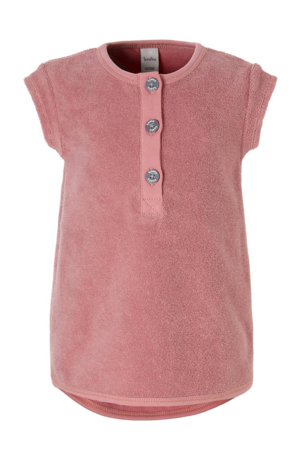Koeka badstof tuniek, Blush pink