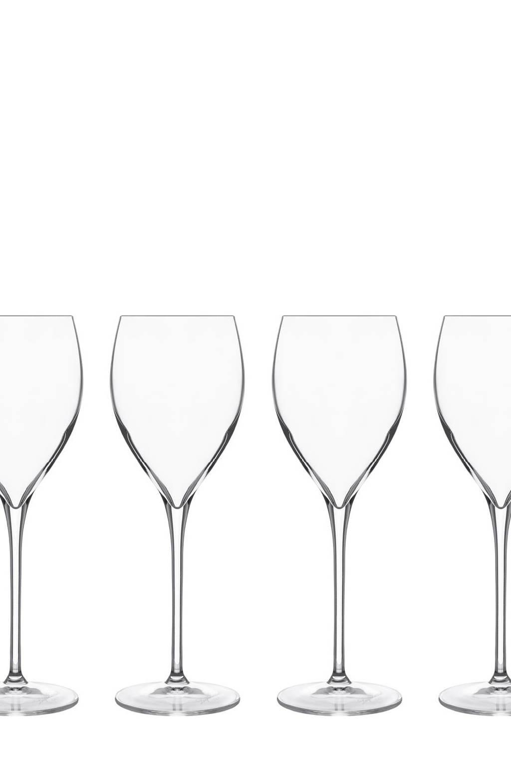 Luigi Bormioli Magnifico wijnglas (Ø8,2 cm) (set van 4), Transparant