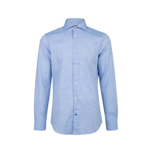 slim fit linnen overhemd