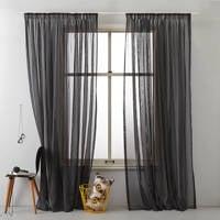Wehkamp Home inbetween kant en klaar transparant gordijn (per stuk) (300 x 295 cm), Zwart