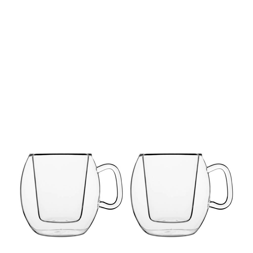 Luigi Bormioli Thermic koffieglas (Ø10,6 cm) (set van 2), Transparant