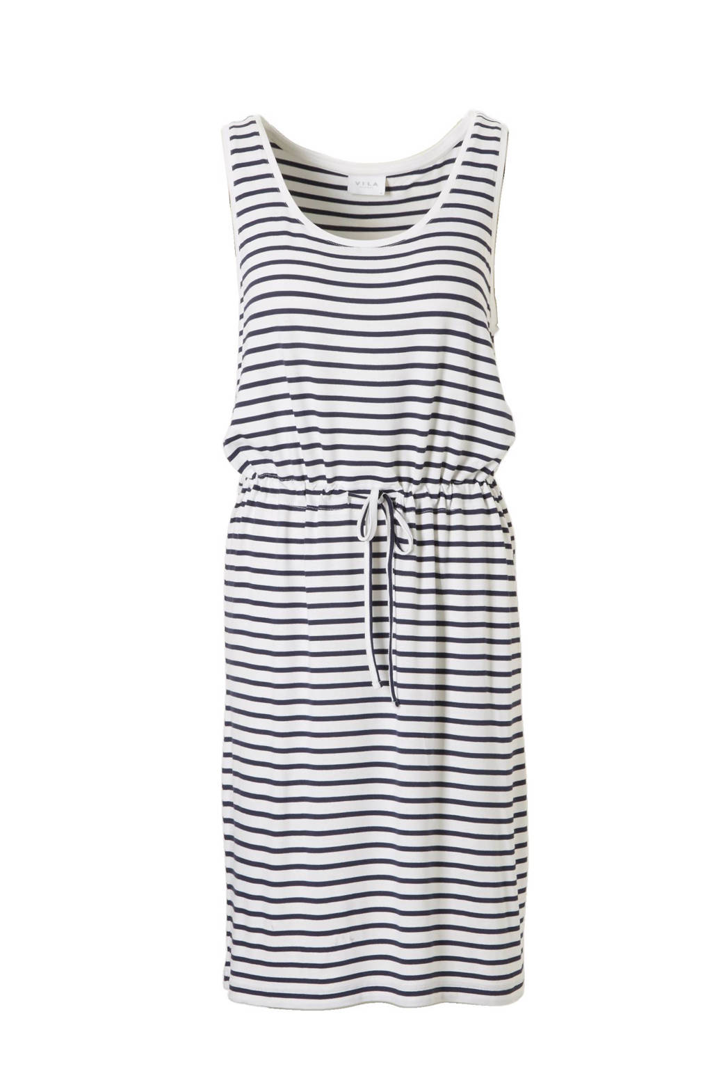 VILA jurk, Donkerblauw/ecru