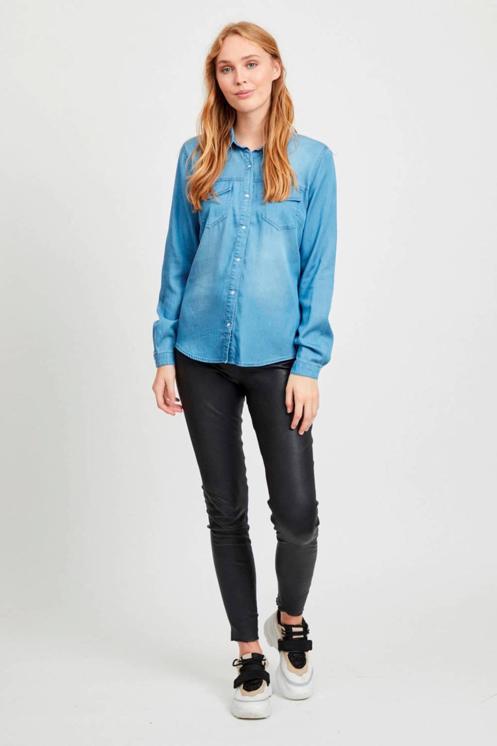 VILA spijkerblouse VIBISTA medium blue denim, Lichtblauw