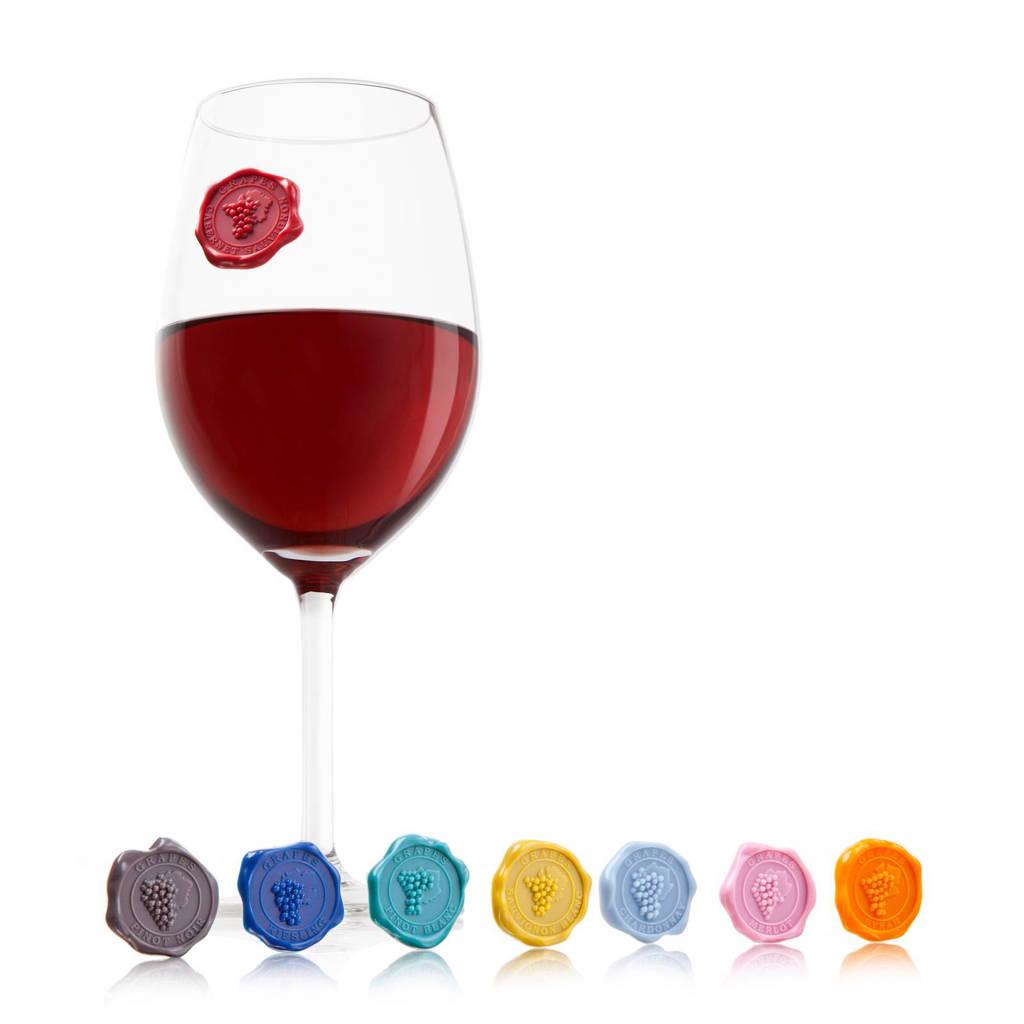 Vacu Vin glasmarkeerder (set van 8)