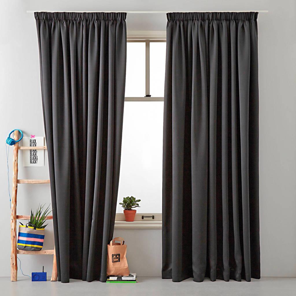 Wehkamp Home verduisterend gordijn kant en klaar verduisterend gordijn (per stuk) (140 x 180 cm), Zwart