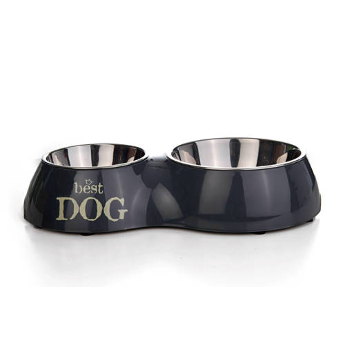 Melamine dinerset Best Dog Grijs-31 x 17.5 cm