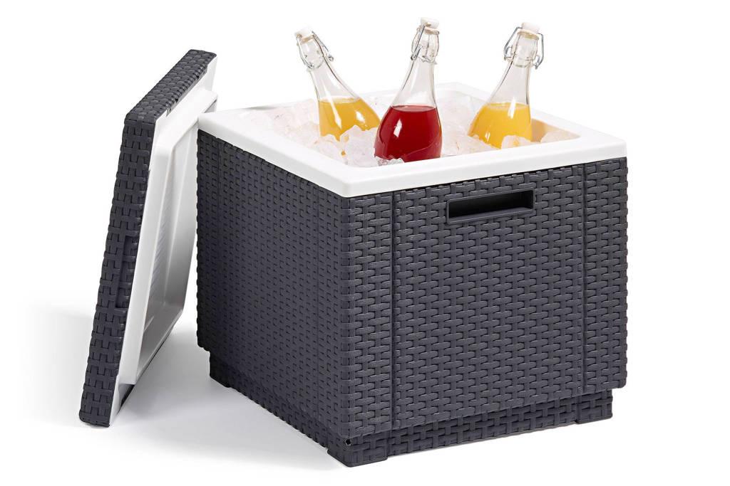 Allibert bijzettafel/koelbox (42x42 cm), bijzettafel met koelboxfunctie