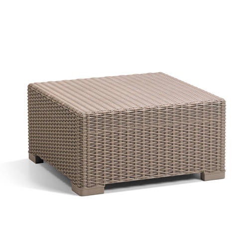 Loungetafel Allibert California 68x68cm Cappuccino