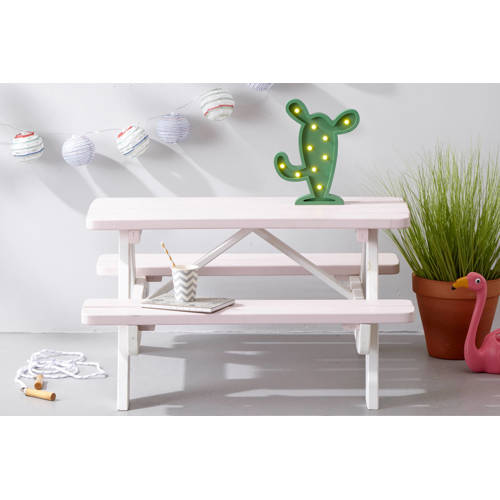 Kinderpicknicktafel Minnie roze-wit