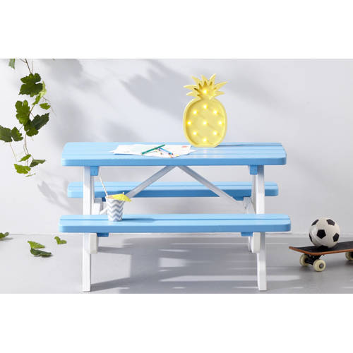 Kinderpicknicktafel Mickey blauw-wit