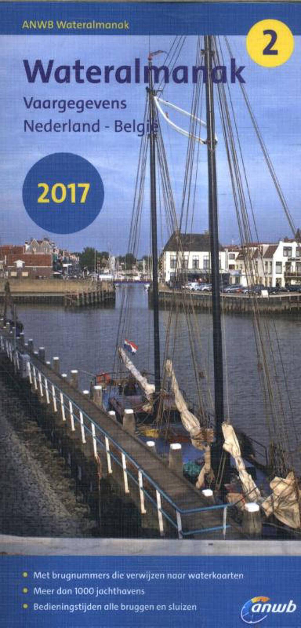 ANWB wateralmanak: Vaargegevens Nederland - België 2017