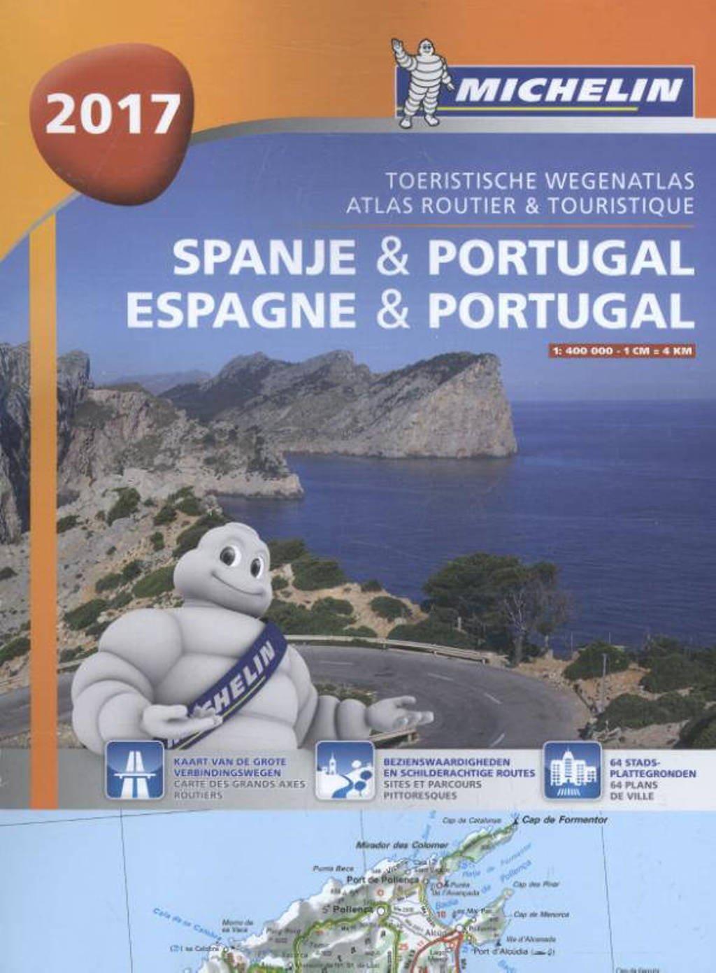 Atlas Michelin Spanje & Portugal 2017