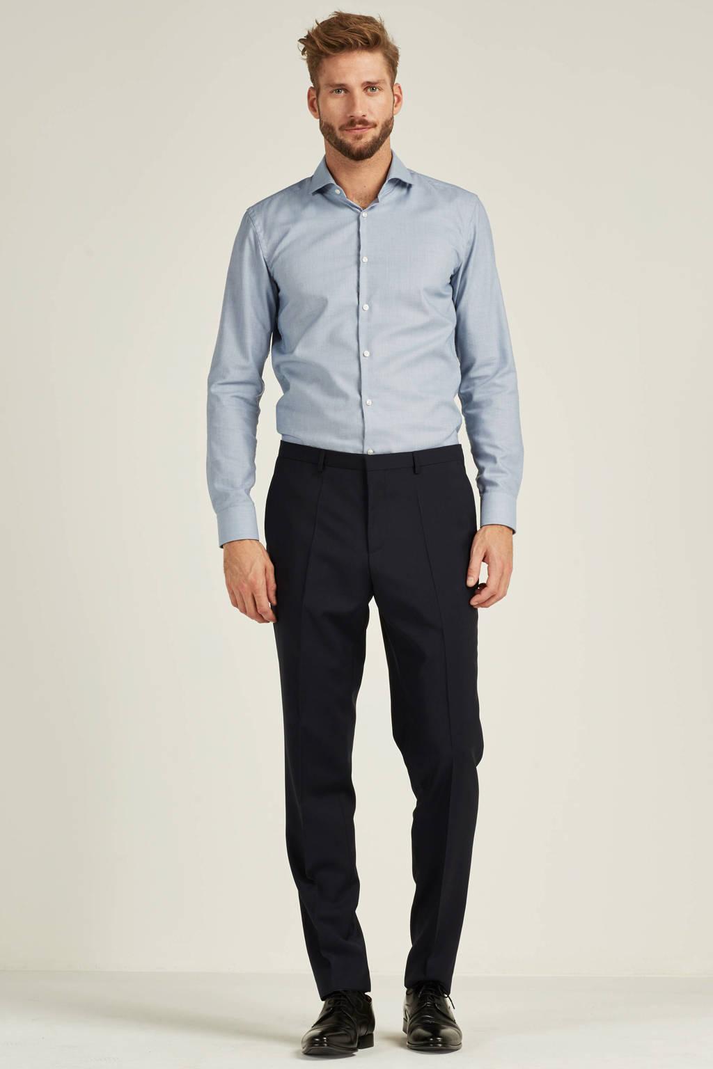 HUGO AldonS slim fit pantalon, Donkerblauw