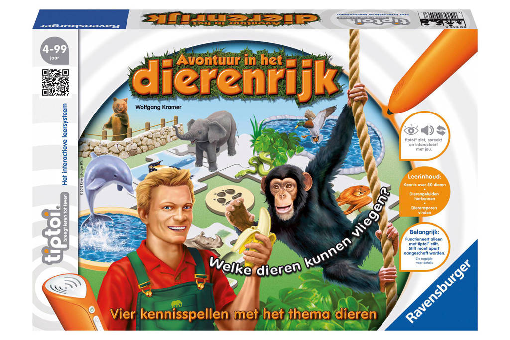 Ravensburger Tiptoi  avontuur in het dierenrijk