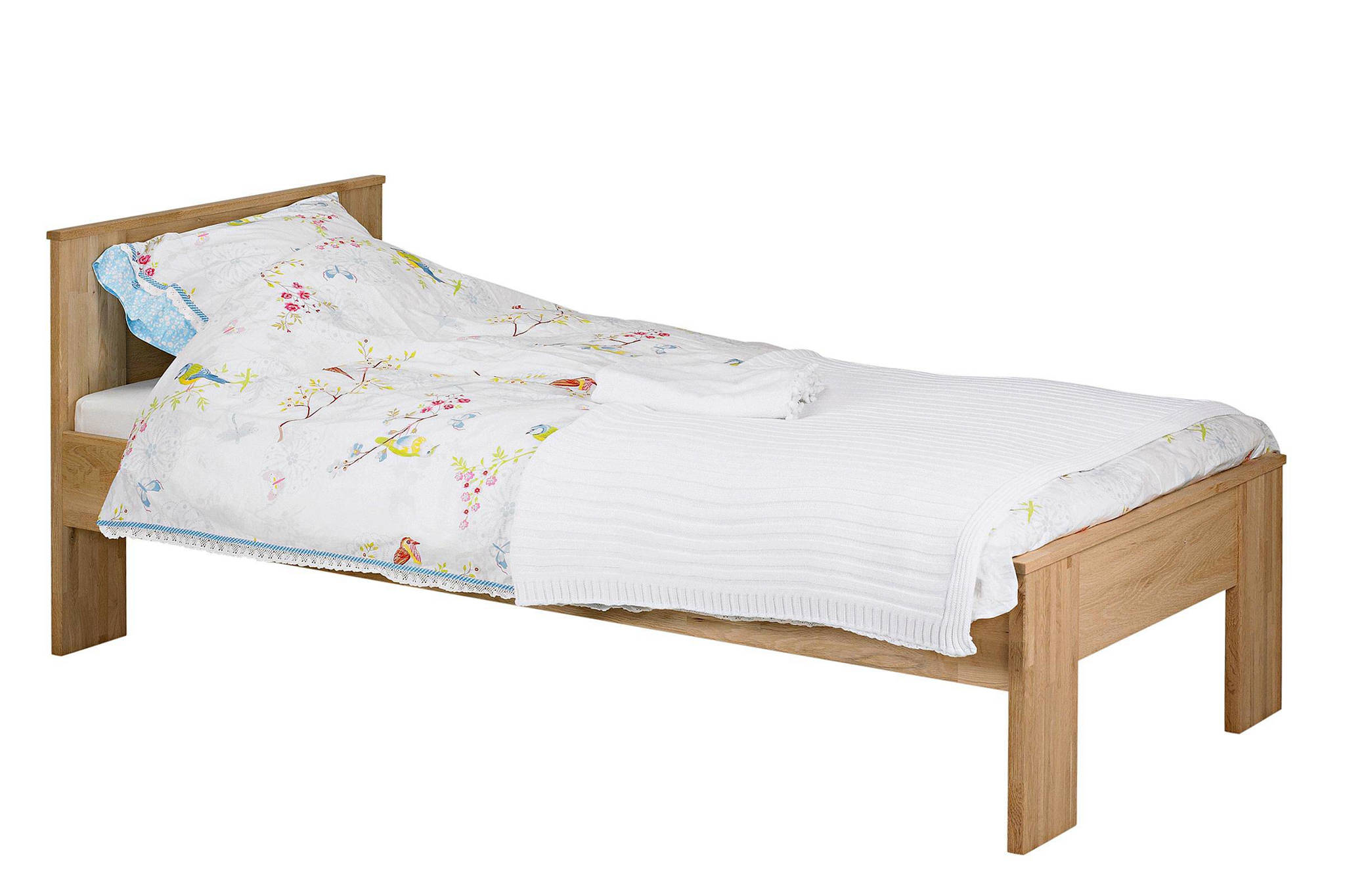 Nieuw Woood Eiken bed (90x200 cm) | wehkamp RE-66