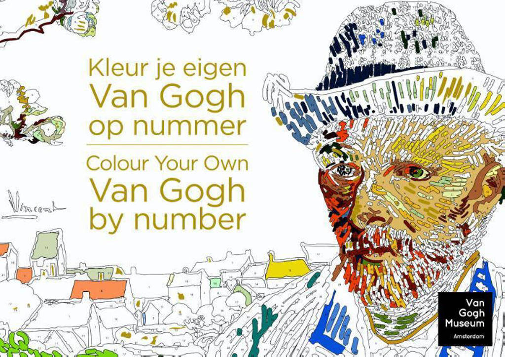 Kleur je eigen Van Gogh op nummer; Colour your own Van Gogh by number