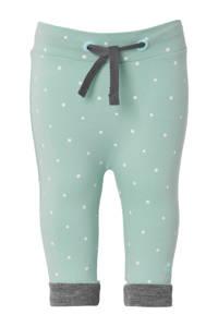 Noppies newborn baby broek, mint groen/grijs/wit