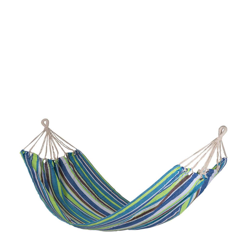 Bo-garden hangmat Rumba (200x140 cm), Blauw/Donkerblauw/Beige