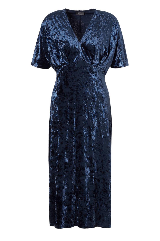 C&A Yessica fluwelen jurk, Blauw