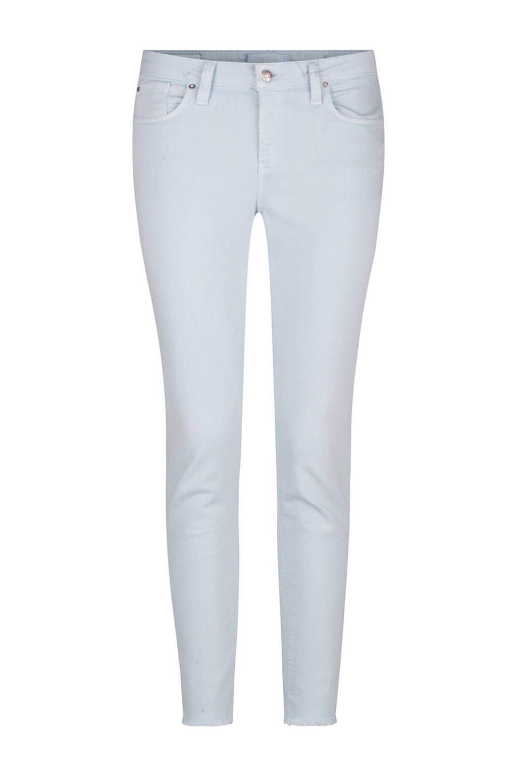 WE Fashion Blue Ridge cropped skinny fit broek, Mintgroen