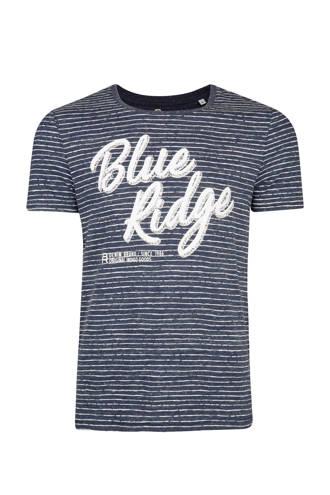 Blue Ridge gestreept slim fit T-shirt marineblauw