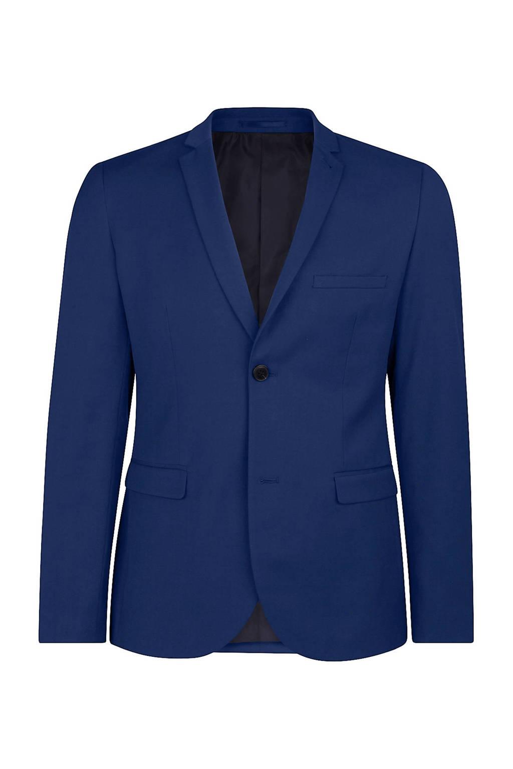 WE Fashion skinny fit colbert blauw, Blauw