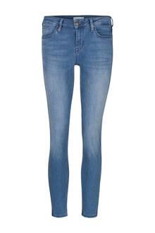 Blue Ridge cropped skinny jeans met zijstreep
