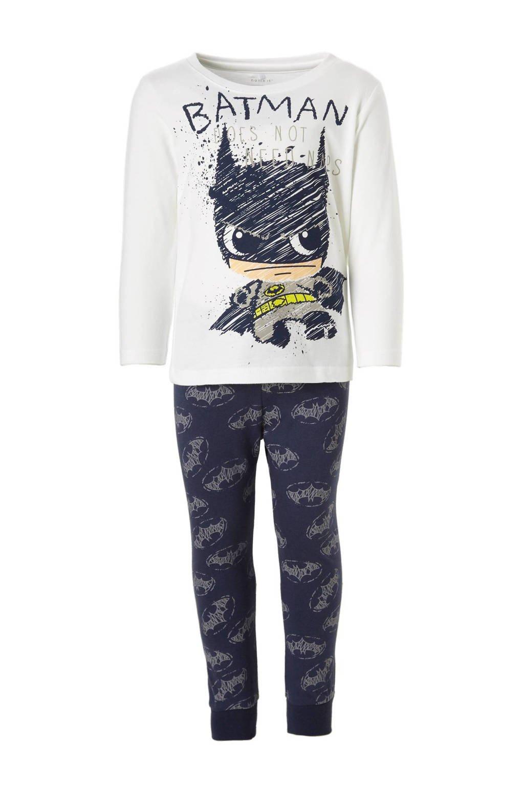 name it MINI   pyjama, Donkerblauw/wit/multi