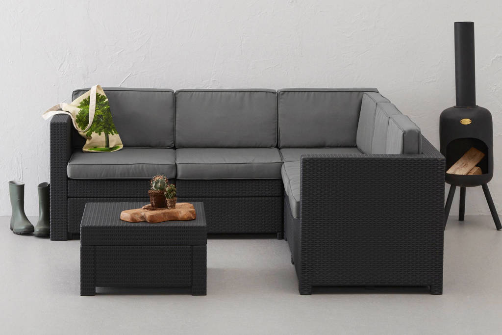 Keter loungeset Provence, Antraciet