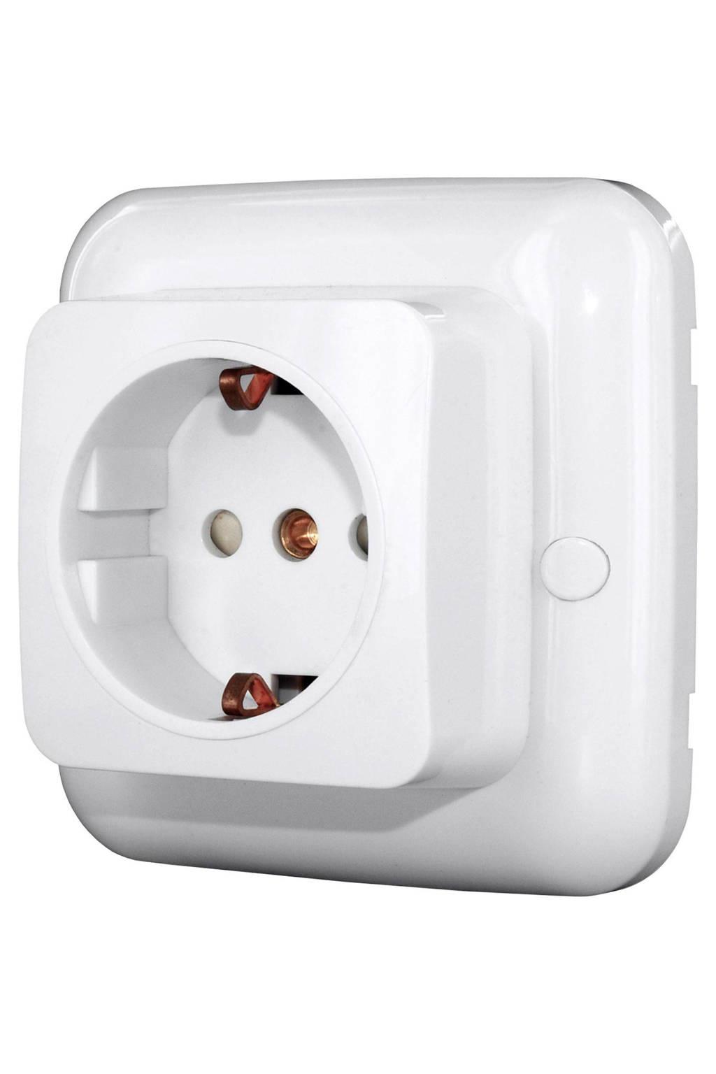 Smartwares SH5-RBS-23A inbouw contactdoos met aan/uit ontvanger, Wit