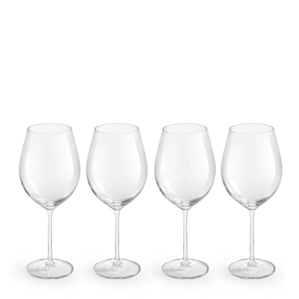 Royal Leerdam Finesse Enology rode wijnglas (set van 4), Transparant