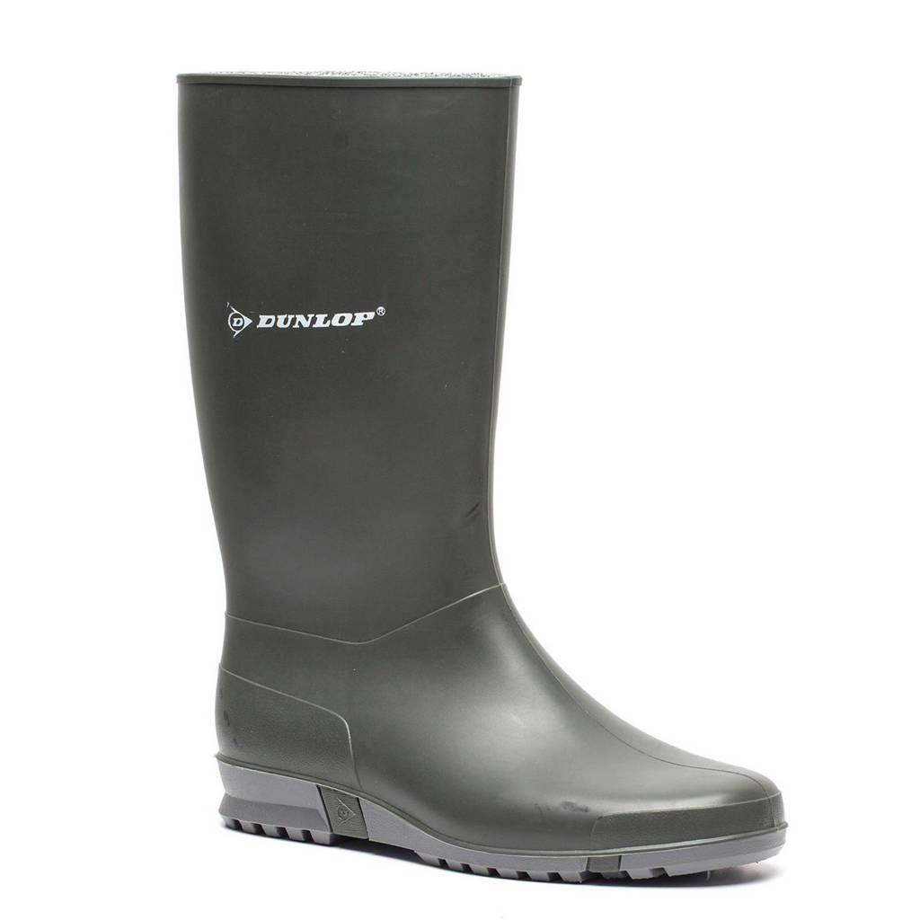 Scapino Dunlop   regenlaarzen donkergroen kids, Donkergroen/wit