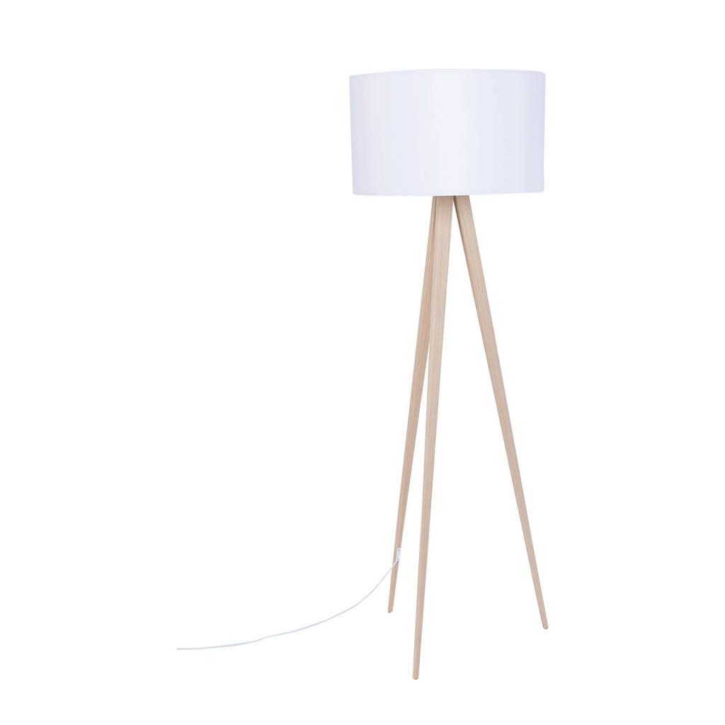 Zuiver Tripod vloerlamp, Eiken/wit