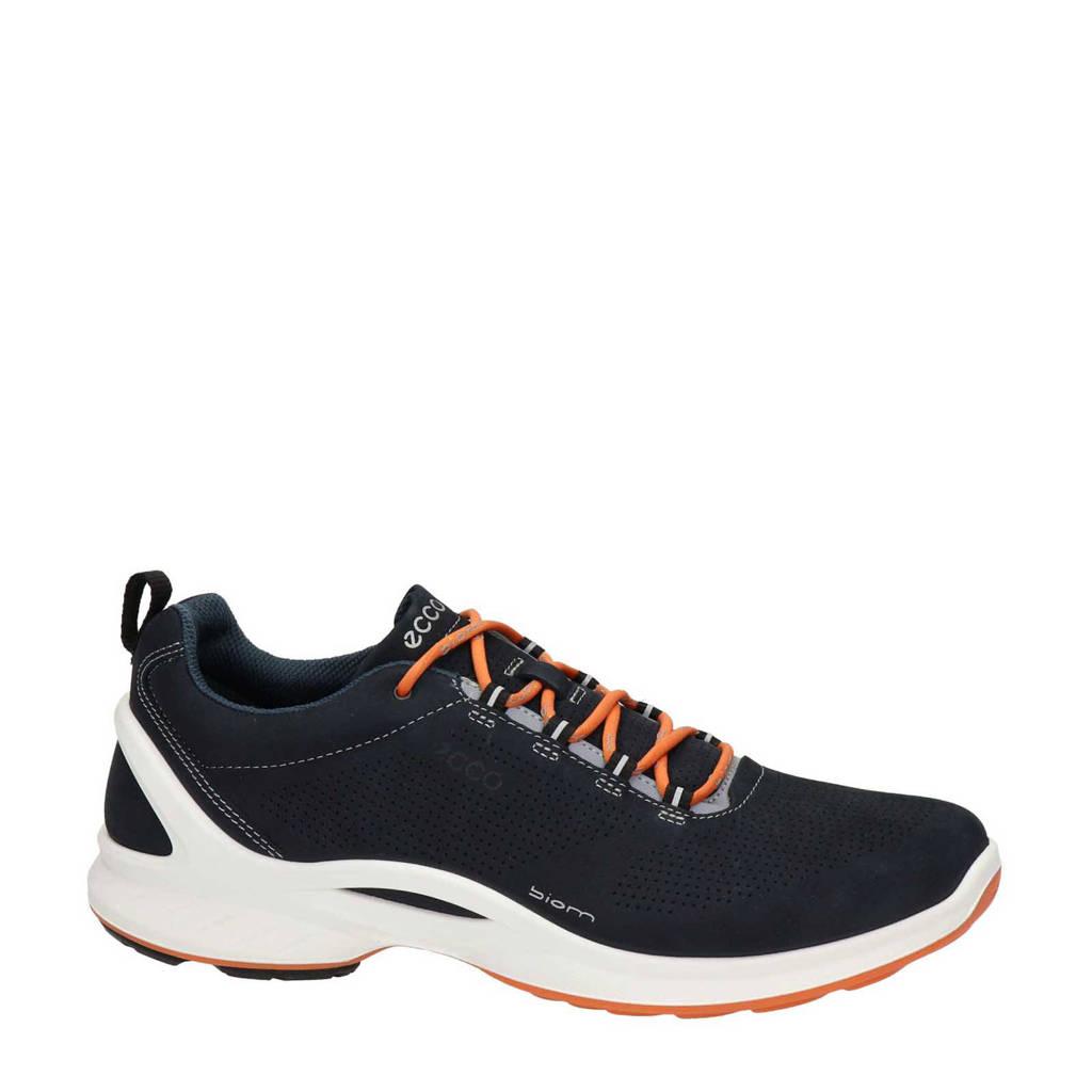 Ecco Biom Fjuel  nubuck lage wandelschoenen donkerblauw, Blauw