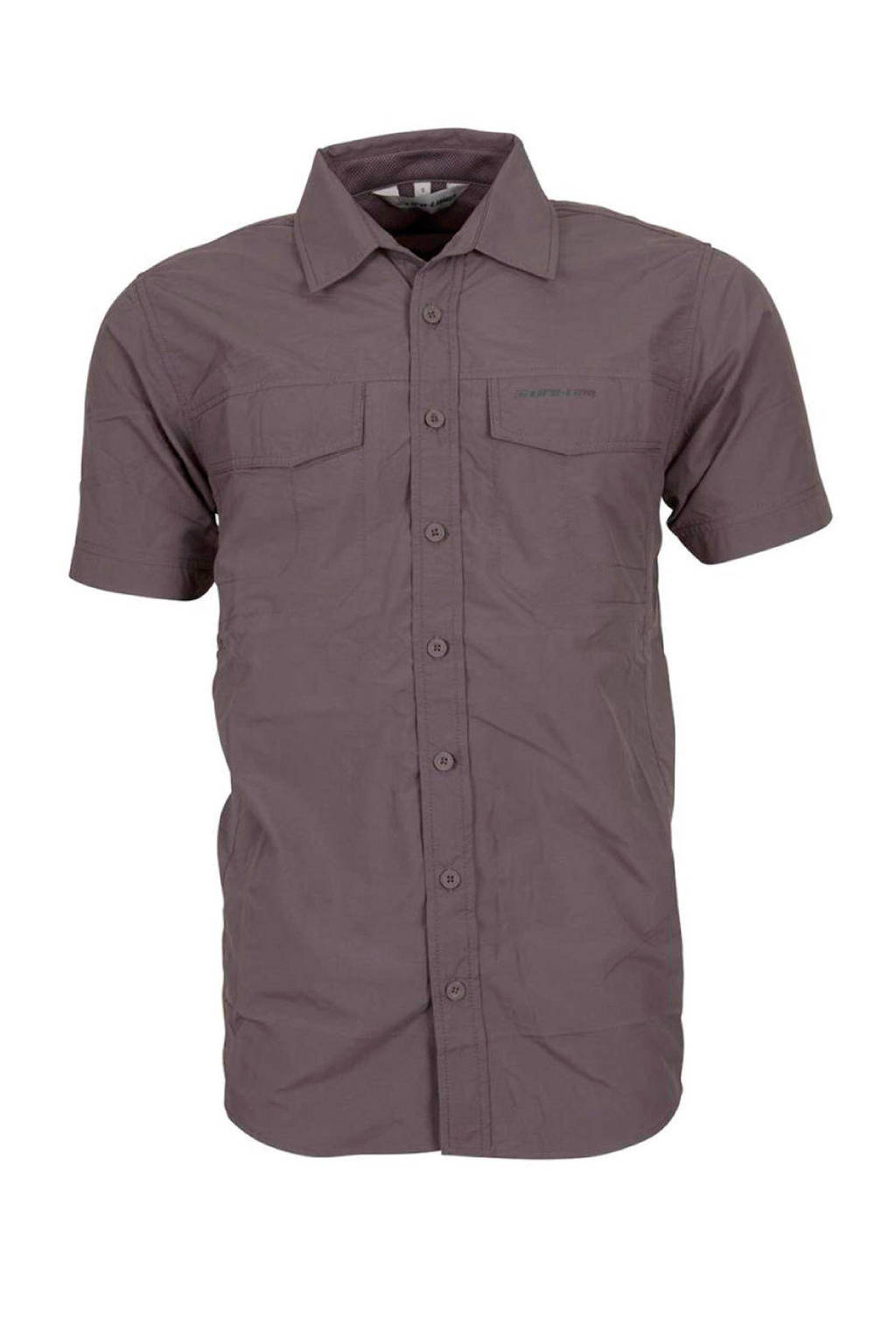 Grijs Overhemd Heren.Life Line Heren Outdoor Overhemd Makoa Wehkamp