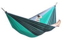 More Than Hip hangmat Double Sherwood (290 x 210 cm), Groen/donkergroen/ grijs