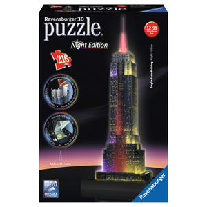 Empire State Building nachteditie  3D puzzel 216 stukjes