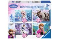 Ravensburger Disney Frozen vier  legpuzzel 21 stukjes