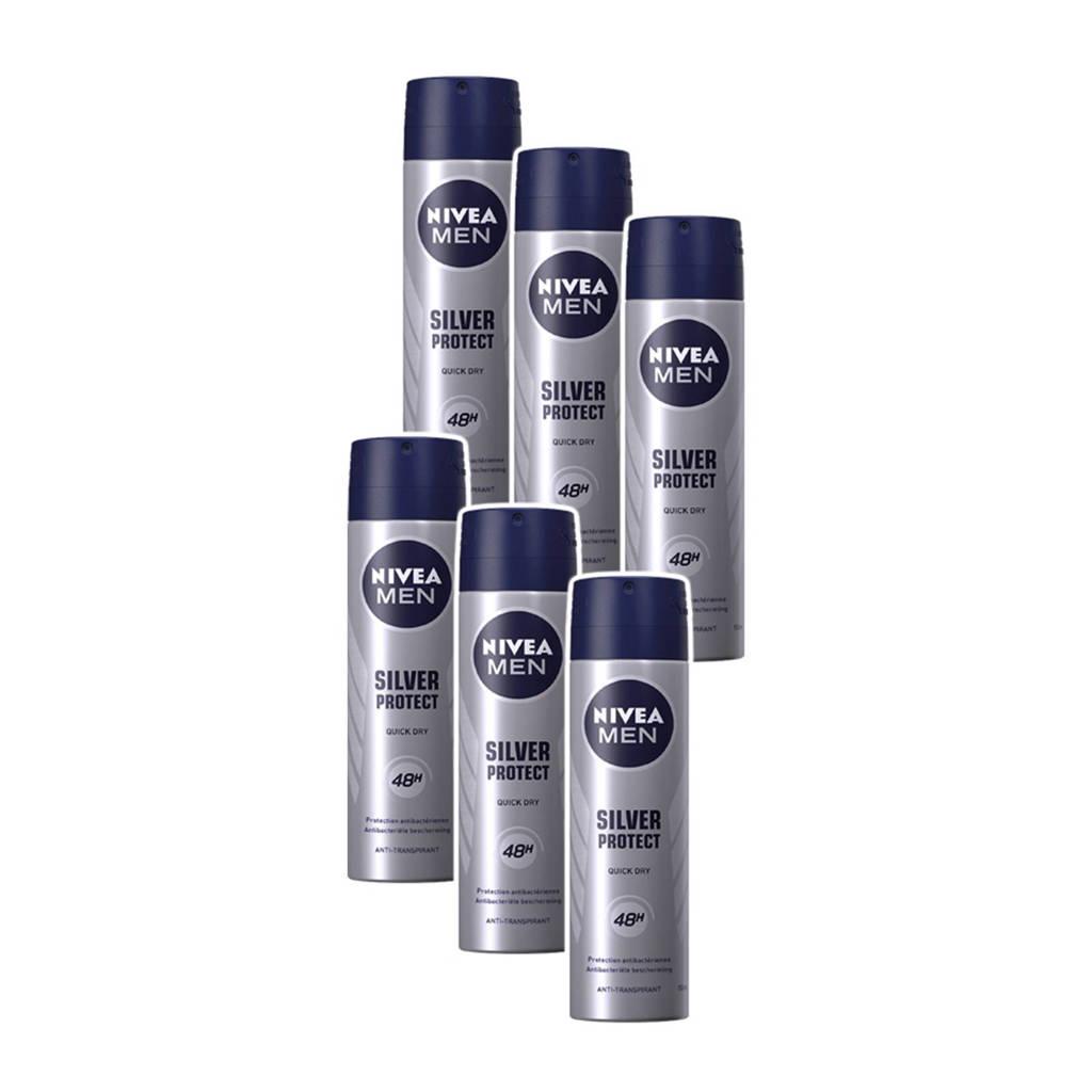 NIVEA MEN silver protect deodorant spray - voordeelverpakking 5+1 gratis