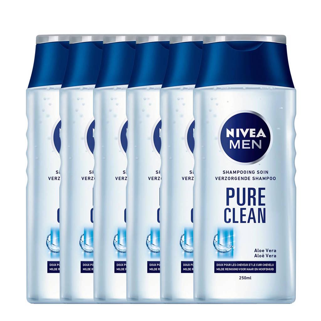 NIVEA MEN pure clean shampoo - voordeelverpakking 5+1 gratis