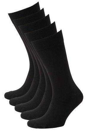 sokken -set van 5 zwart