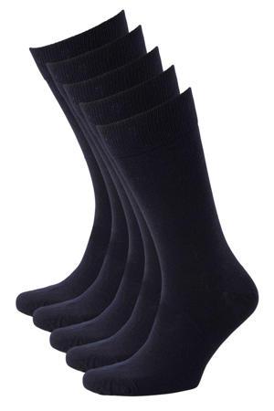 sokken - set van 5 marine
