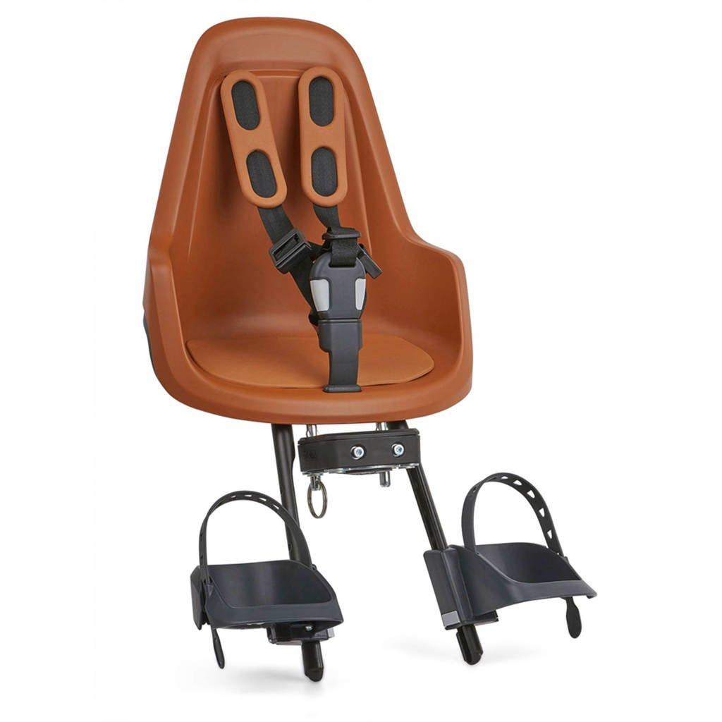 Bobike ONE Mini fietsstoeltje voor chocolate brown, Chocolate brown