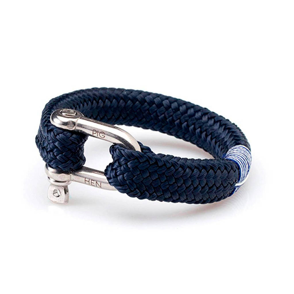 Pig & Hen armband Fat Fred, Navy