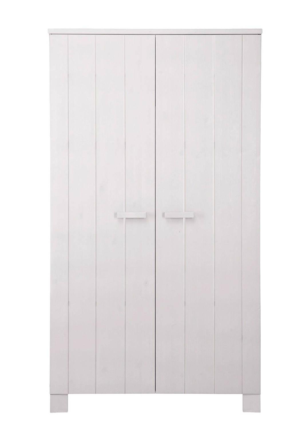 Woood 2-deurs kledingkast wit Robin, Wit