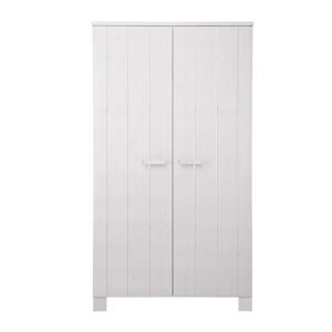 2-deurs kledingkast wit Robin