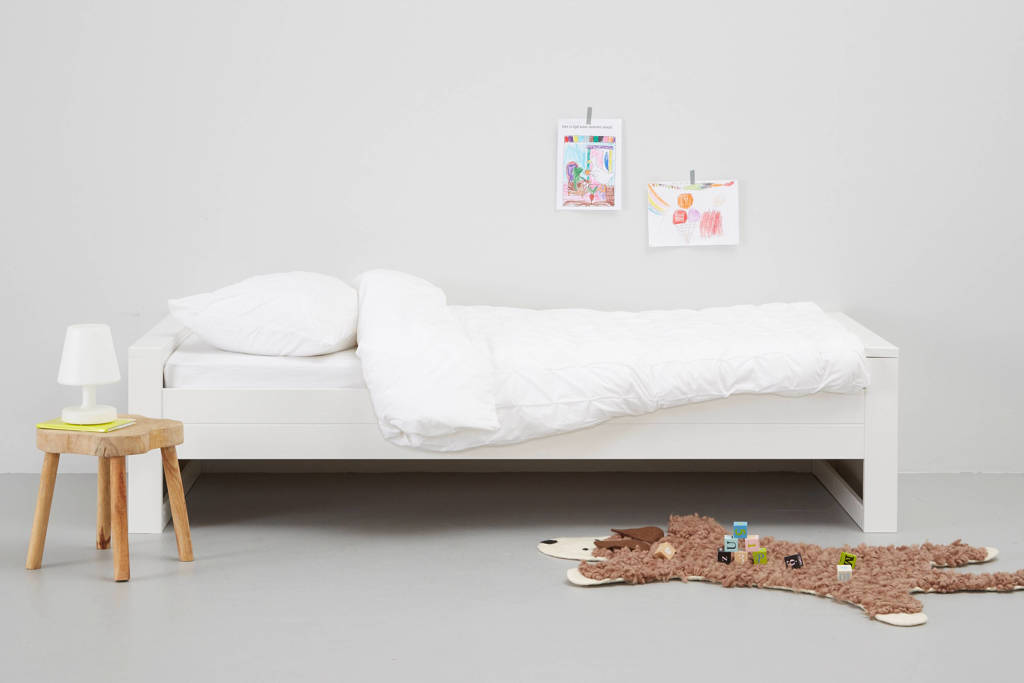Woood bed Robin (90x200 cm), Wit