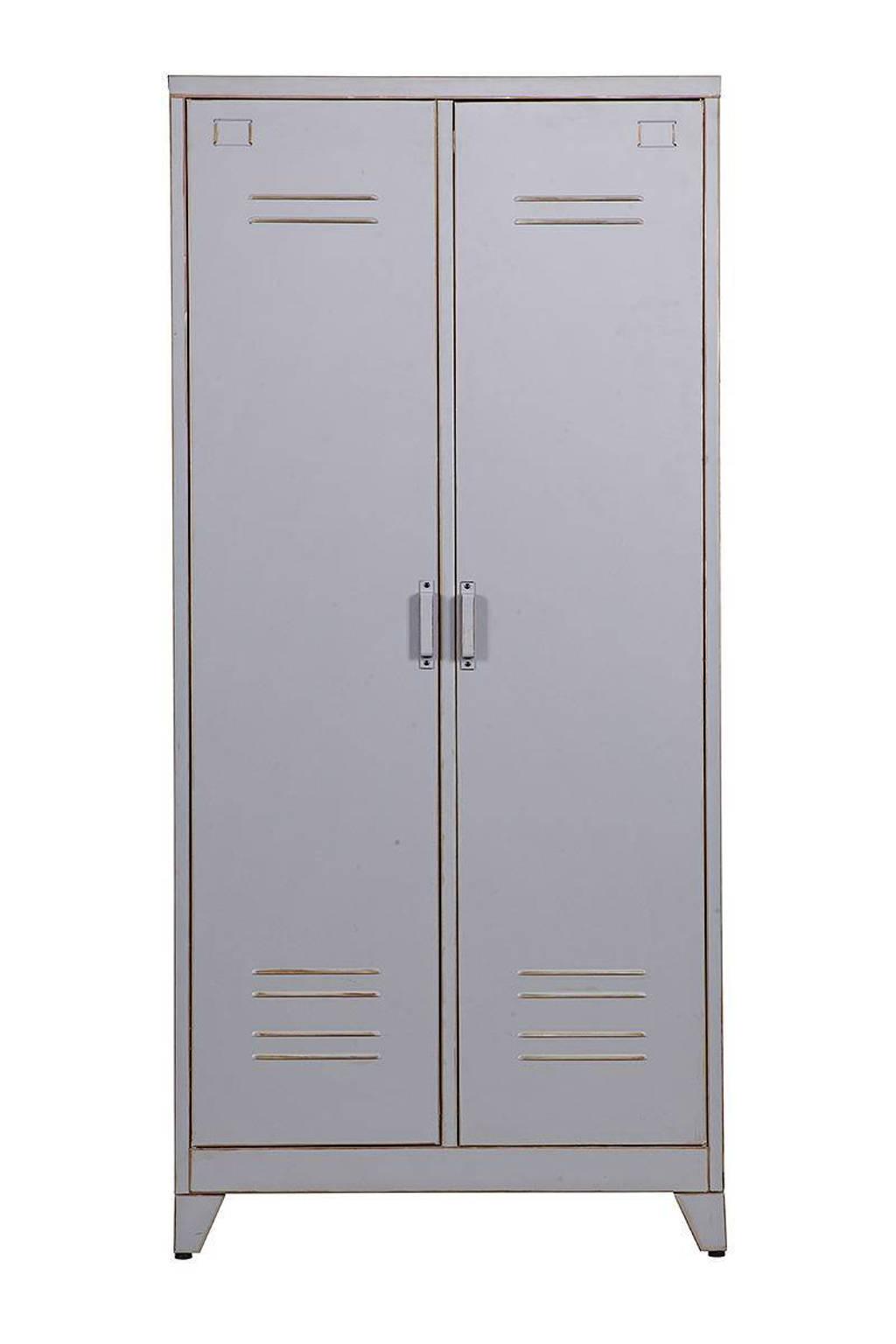 Woood 2-deurs lockerkast grijs Max, Grijs