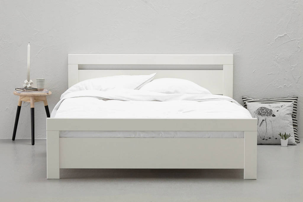 whkmp's own Bed Carrara (140x200 cm), Wit